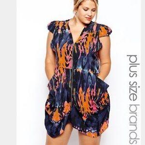 AX Paris Curve Plus Size Front Zip Dress-US 14
